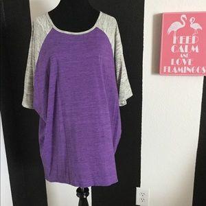 EUC LuLaRoe Purple/Cream Heathered Irma